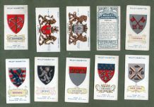 Collectable cigarette cards Arms of Foreign Cities, Venice, New York, Paris, Berlin